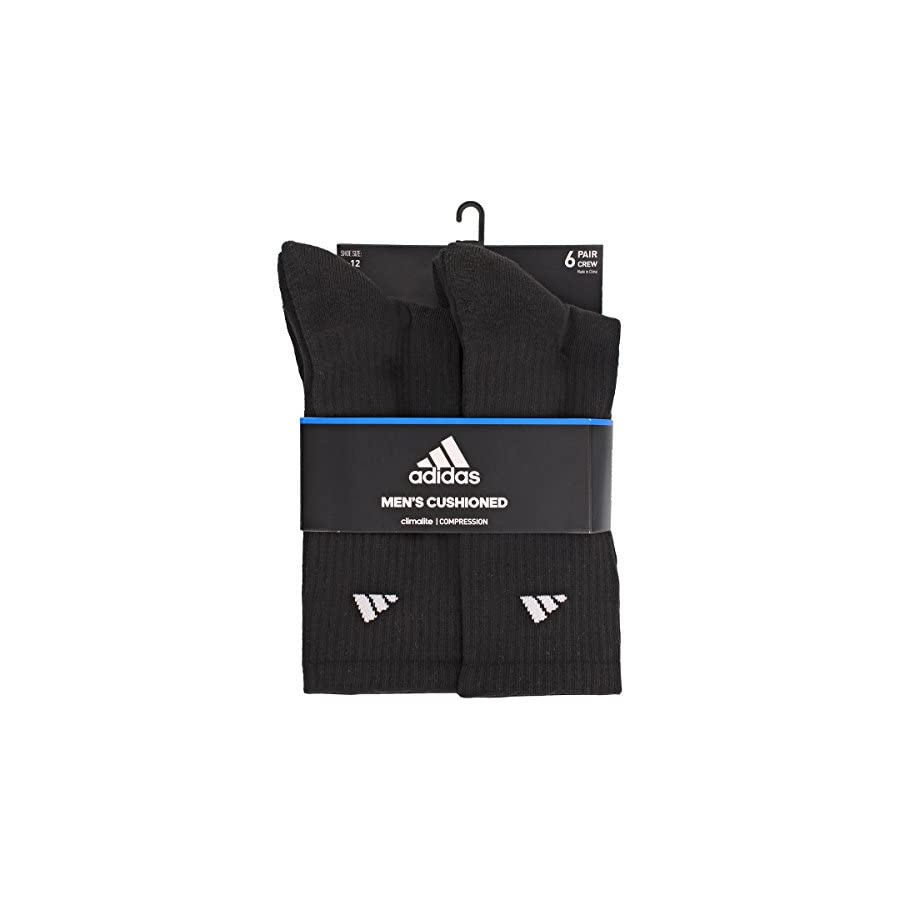 adidas Men's Athletic Crew Socks (6 Pack or 12 Pack)
