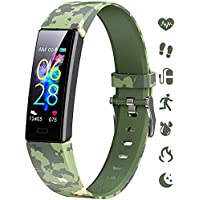 K-berho Kids Fitness Tracker, Fitness Watch Activity Tracker with Pedometers, Heart Rate & Sleep Monitor, Stopwatch…