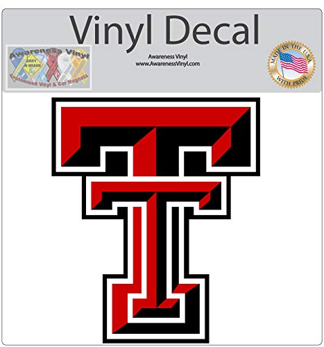 Orajet Texas Tech TTU Red Raiders Vinyl Decal (4-Year Outdoor Vinyl, ()