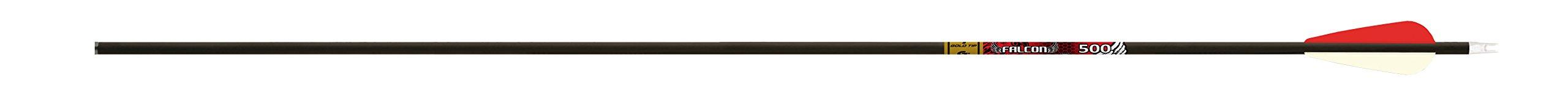 Gold Tip Falcon 500 26-Inch Arrows with 2-Inch Raptor Vanes (1-Dozen)