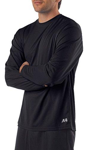 a4-mens-birdseye-mesh-crew-long-sleeve-tee-black-large