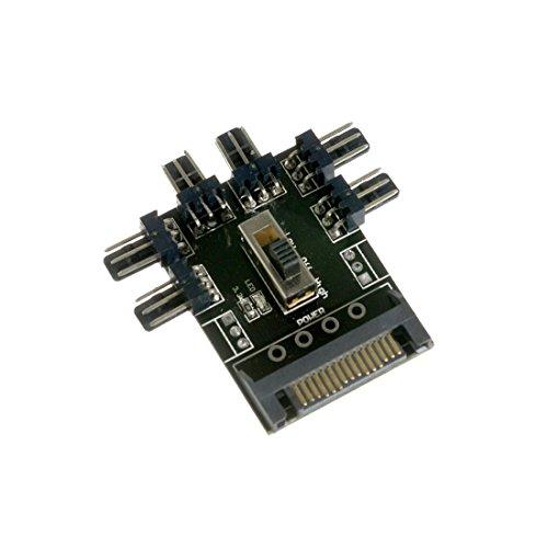Distribution Hub (SATA Power Distribution PCB 6-Way 3-Pin Block Fan Hub Power Splitter (CAB267))