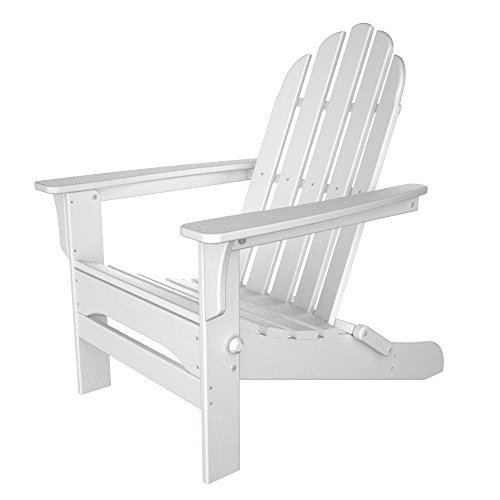 Table in a Bag WPADIR Folding Poly Plastic Adirondack Chair, White For Sale