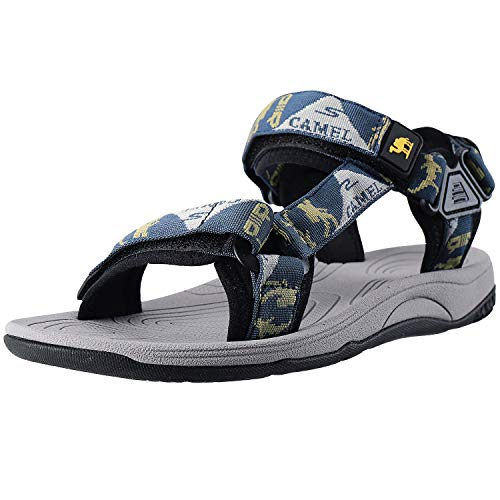 fad30a7545 CAMEL CROWN Mens Hiking Sandals Waterproof with Arch Support Open ...