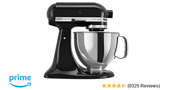 Amazon Com Kitchenaid Ksm150psob Artisan Series 5 Qt Stand Mixer