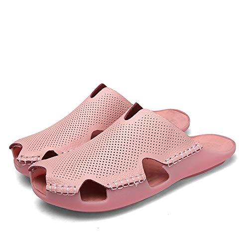 los Otoño Casual Zapatillas Transpirable Amantes para adecuadas Toe para Zhou de Verano Opcional Las Zapatillas Desgaste Hide Sharon Feel Summer Light Cool el y Pink la Primavera de q7fv7wXS