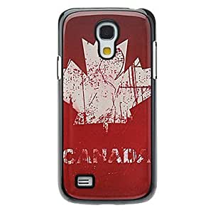 LIMME Retro Style Canadian Flag Pattern Aluminum Hard Case for Samsung Galaxy S4 mini I9190