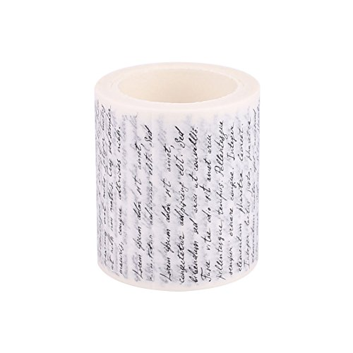 Decorative Washi Tape, DIY Gift Wrapping Scrapbooking and Craft, Sticky Adhesive Paper Masking Tape with Lovely Printed Patterns (Love Letter) and Long-Lasting Colors]()
