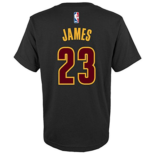 Lebron James Cleveland Cavaliers Youth Black Alternate Logo Name and Number T-shirt Large 14-16