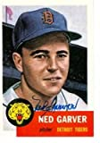 Ned Garver autographed Baseball Card (Detroit Tigers) 1991 1953 Topps Archives #112