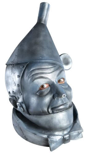 Tinman Costumes (Wizard Of Oz Deluxe Latex Mask, Tin Man, Silver, One Size)