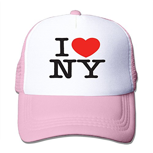 Price comparison product image CYSKA Unisex-Adult Adjustable Visor Cap I Love NY Heart New York Dancing Caps Pink