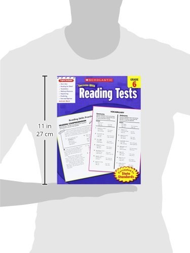 Amazon.com: Scholastic Success With Reading Tests, Grade 6 ...