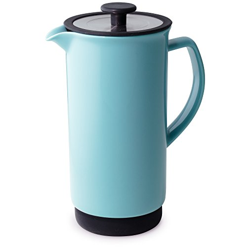 FORLIFE Cafe Style Coffee/Tea Press, 32-Ounce, Turquoise