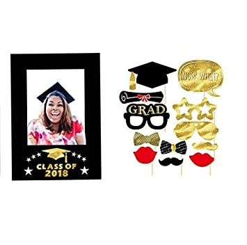 Amazoncom Graduation Photo Booth Props 12 Countlarge Fun