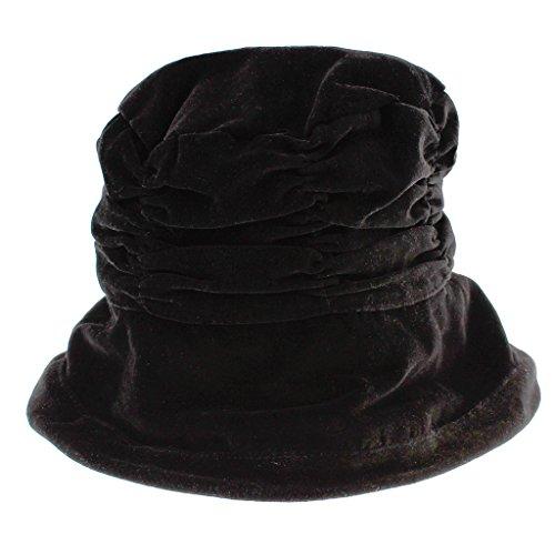 Vintage Velvet Shirred Bucket Hat, Black - Black Velvet Hat Shopping Results