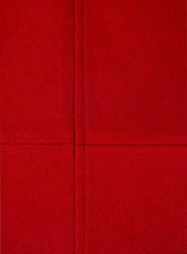 oodji Ultra Mujer Falda Trapecio de Tejido Grueso Rojo (4500N)