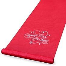 Hortense B. Hewitt Aisle Runner Wedding Accessories, Red Happily Ever After
