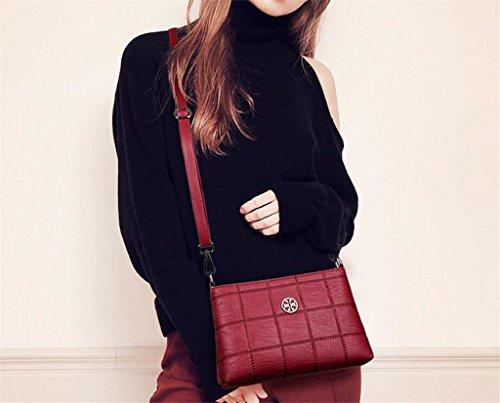 à Lady Bag bandoulière Sac Cinq Shopping Couleurs Simple Unique Main à Messenger Travail Red SHOUTIBAO Sac qR4Sw