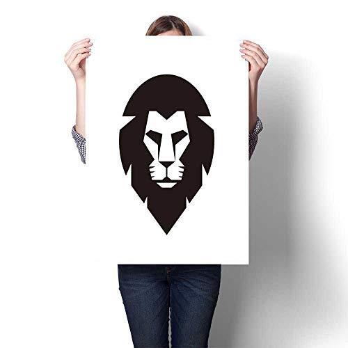 Art Canvas Prints Lion Head Vector Logo Concept Wild cat Graphic Pride Painting,20