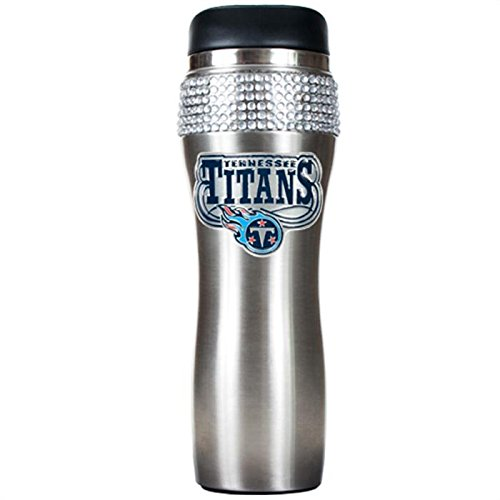 NFL Tennessee Titans Stainless Steel Jeweled Travel - Jeweled Coffee Tumbler