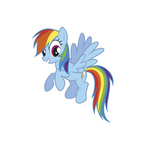 - RoomMates My Little Pony Rainbow Dash Peel and Stick Giant Wall Decals