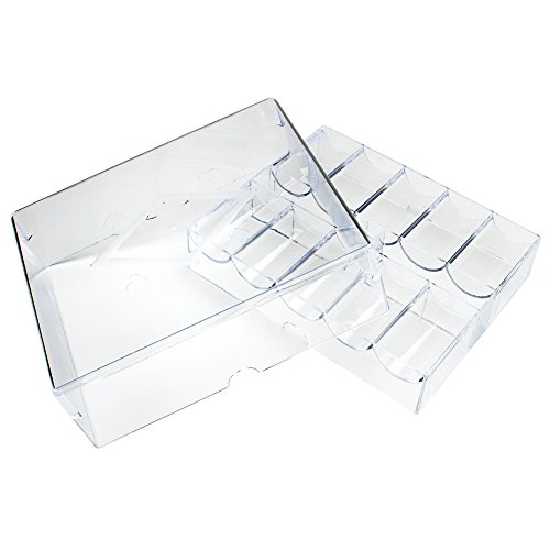 - 200 Ct Acrylic Poker Chip Tray With Lid