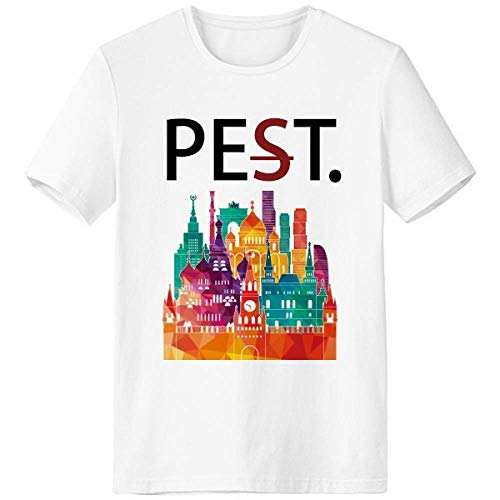 Moscow Cathedral Painting Russia Pet But Not Pest White T-Shirt Short Sleeve Crew Neck Sport