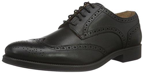 Selected Herren Shdoliver Brogue Shoe Schnürhalbschuhe Schwarz (Black)