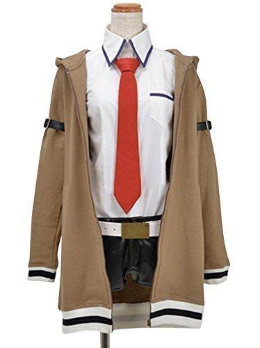 [Women's Halloween Cosplay Makise Kurisu Figure Cosplay Costume Adult] (Kurisu Makise Cosplay Costume)