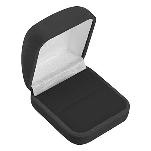 (Black Velour Ring Display Jewelry Packaging Boxes - Pack of)