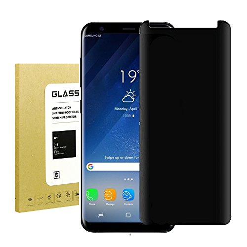 for Galaxy S8 Plus Screen Protector Privacy Anti-Spy,Kbbale[9H Hardness][No Bubble][Anti-Scratch][Easy to Install] Privacy Anti-Peep Tempered Glass Screen Protector for Samsung Galaxy S8 Plus(Balck)