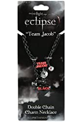 "Twilight ""Eclipse"" Double Chain Charm Necklace (Team Jacob)"