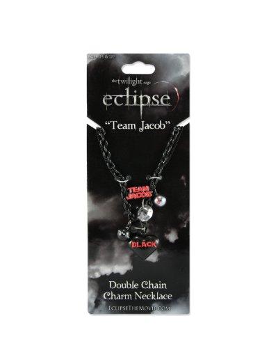 "Twilight ""Eclipse"" Double Chain Charm Necklace (Team Jacob)"