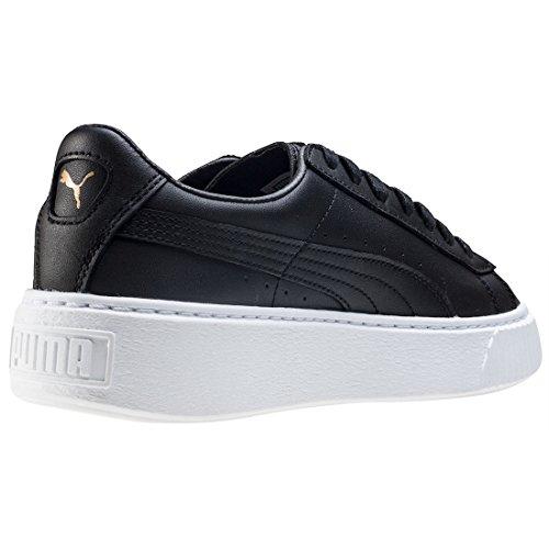 Puma Basket Platform Core, Zapatillas para Mujer Negro (Black-gold)