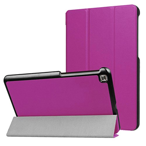 Price comparison product image Mchoice For LG G Pad 4 8.0inch Tablet Luxury Leather Case Flip Cover Skins (Purple)