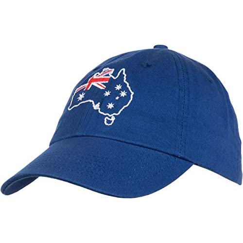 Australia Pride | Australian Aussie Flag Sport Fan Low Fit Baseball Cap Dad Hat Royal Blue - 41e3aH4cA%2BL. SS500 - Getting Down Under Hats and Caps