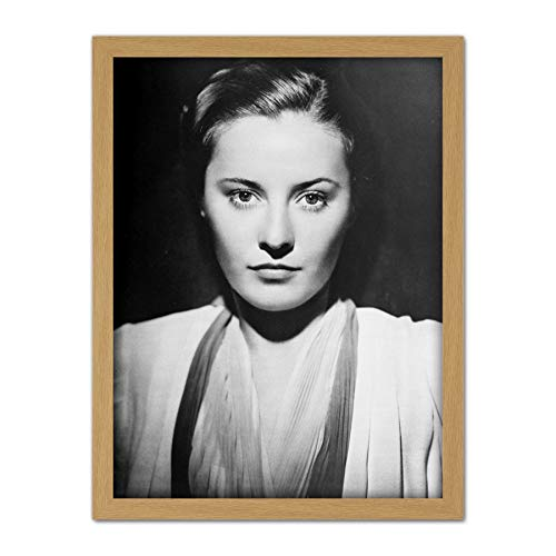 Portrait Actress Barbara Stanwyck 1938 Promo Photo Artwork Framed Wall Art Print 18X24 - Art Promo Photo