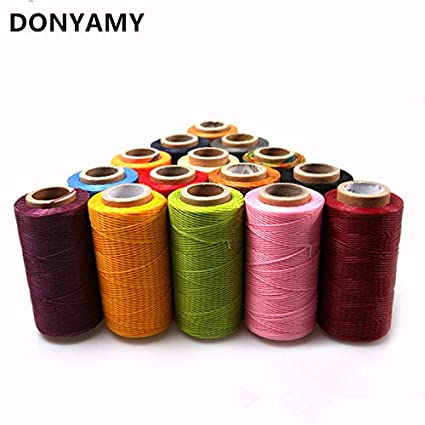 Tool Hand Stitching Flat Handicraft Sewing Line Waxed Thread Cord Leather