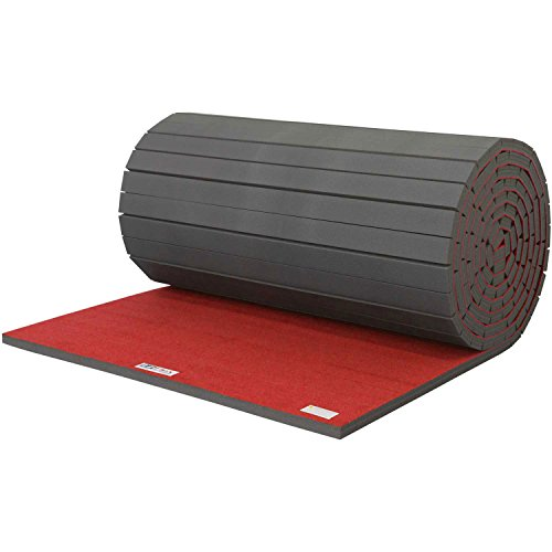 Cheerleading/Gymnastics Roll Mats, 42′ x 6′ x 3/4″, Red