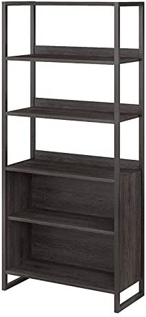 kathy ireland Office by Bush Business Furniture Atria 5 Shelf Bookcase, Charcoal Gray, Standard Delivery