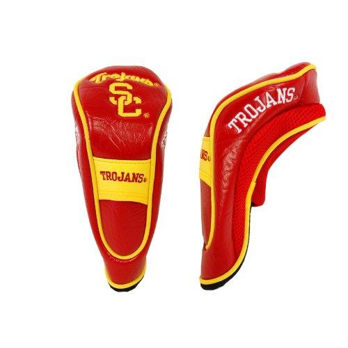 Team Golf NCAA USC Trojans Hybrid Golf Club Headcover, Velcro Closure, Velour lined for Extra Club Protection