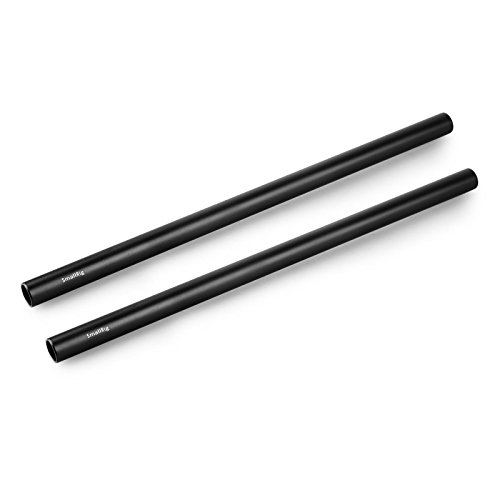 SmallRig 15mm Camera Rods (10 Inch) for 15mm Rail Rod Support System, 15mm Rod Clamps, 15mm Rod Counter Weight, 15mm Matte Box, 15mm Shoulder Pad, 15mm Lens Supports - 1052