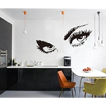 Amaonm Large Audrey Hepburnu0027s Eyes Removable Vinyl Quotes Wall Decals DIY Wall  Stickers U0026 Murals For Part 74
