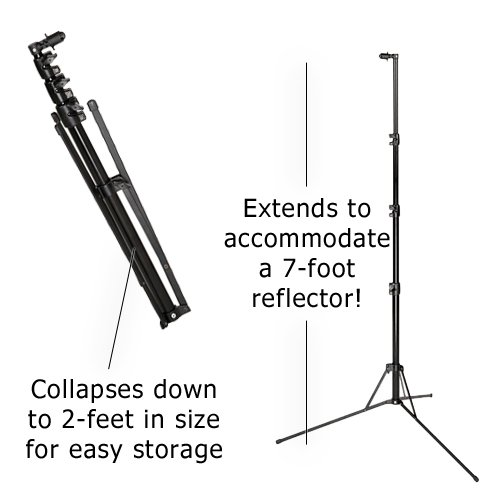 Fotodiox Pro Collapsible Panel - 5x7' 2-Stop Soft Diffuser Panel with Support Stand by Fotodiox (Image #3)