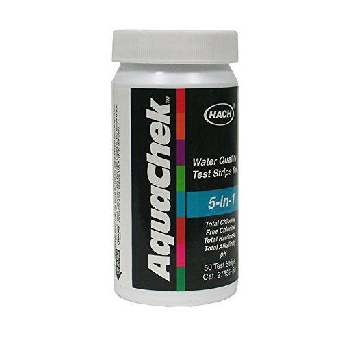 AquaChek 5 In 1 Water Tester Test Chlorine, Hardness, pH & Alkalinity