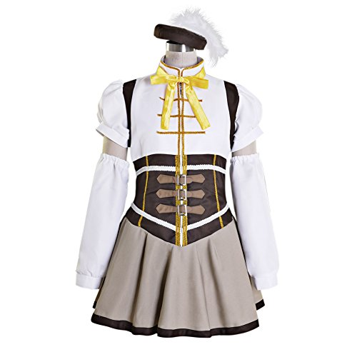 Tomoe Mami Costume (Women's Puella Magi Madoka Magica Mami Tomoe Dress Cosplay Costume Small)