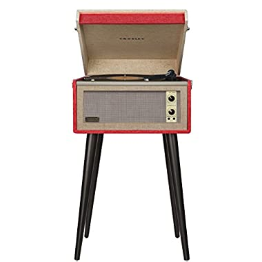 Crosley CR6233A-RE Dansette Bermuda Portable Turntable with Aux-In, Red