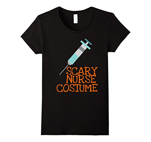 Womens Scary Nurse RN Costume Funny Halloween T-shirt XL (Halloween Costumes For Medical Office)