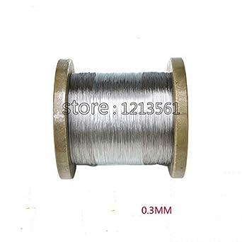 Amazon.com: Ochoos 0.012 in, 316/316L alambre de acero ...